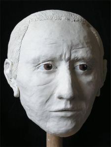 Facial reconstruction of Iron Age man