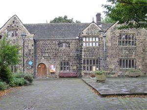 Ilkley Manor House museum, largely built with stone from the Roman fort