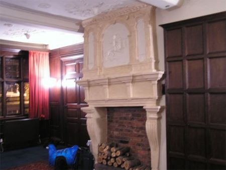 Fireplace in Bishop Lloyds Palace