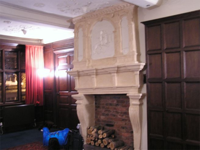 Fireplace in Bishop Lloyds Palace