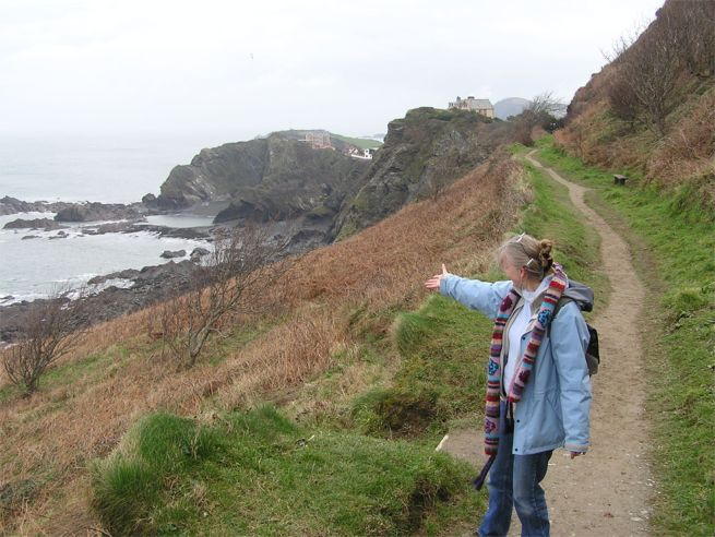 coast path and cliffs at Ilfracombe