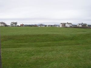 Earthworks in field at Maryport