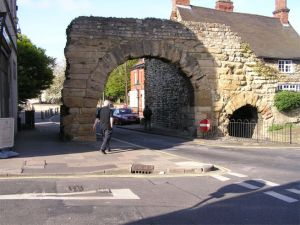 Stone archway over road