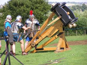 Replica Roman catapult