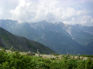 view of mountains