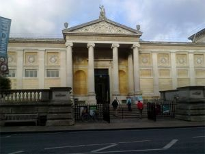 View of the Ashmolean Museum from the street