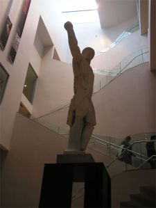 Staircase at Ashmolean Museum with statue of Apollo