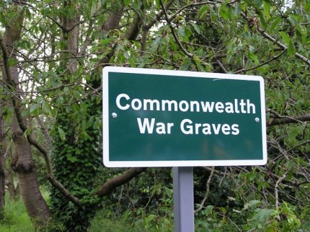 Commonwealth War Graves sign