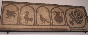 Mosaic from Nimes  showing birds and wine amphora
