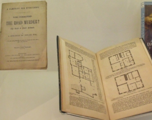 Books about the  Road Hill House murder showing a plan of the house