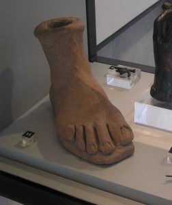 Photo of clay model of foot