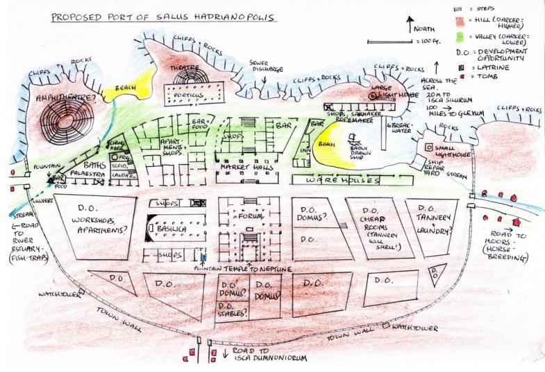 Design of fictional Roman city