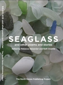Cover of Seaglass anthology (photo of seaglass collection)