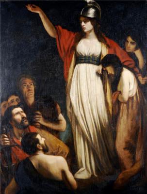 Boadicea Haranguing The Britons.  John Opie, R.A. (1761-1807). Oil On Canvas.