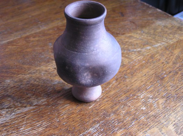 Repro indented pottery beaker