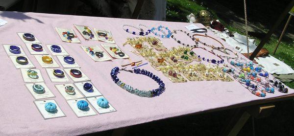 Beads on display