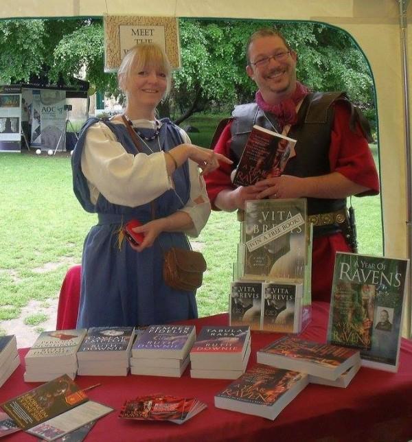 Bookstall with Simon Turney and Ruth