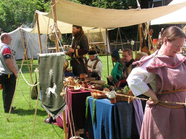 Display of Roman food on stall
