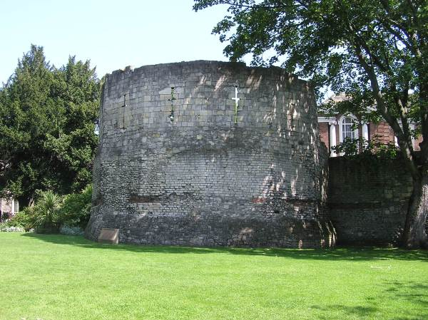 The Multiangular tower in York museum gardens
