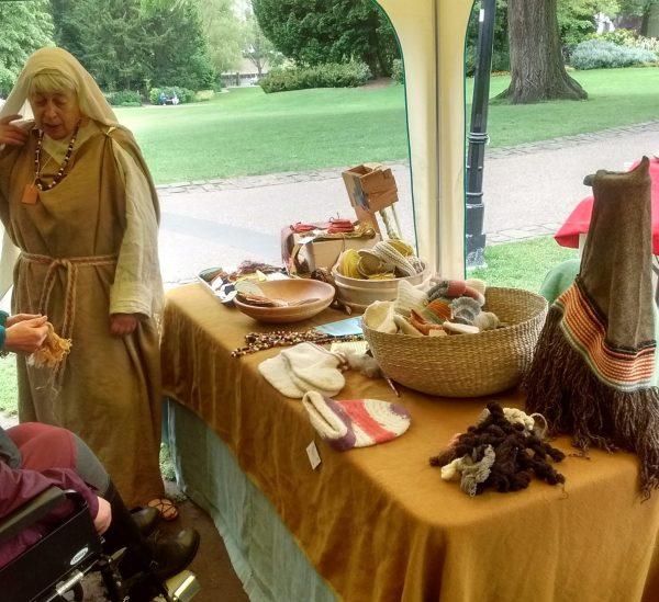 Woolen crafts on stall
