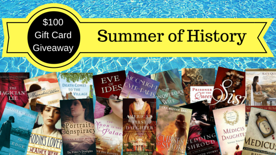 Graphic showing titles on offer for Summer of History draw
