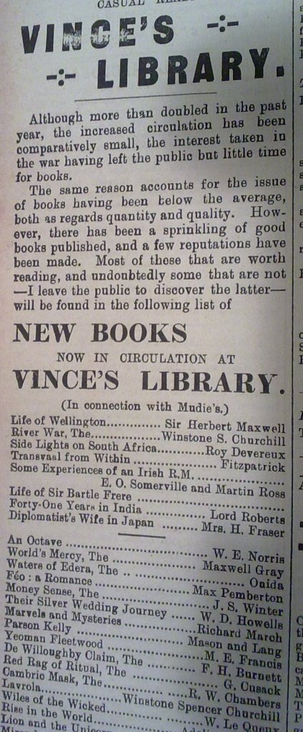 Advertisement for library