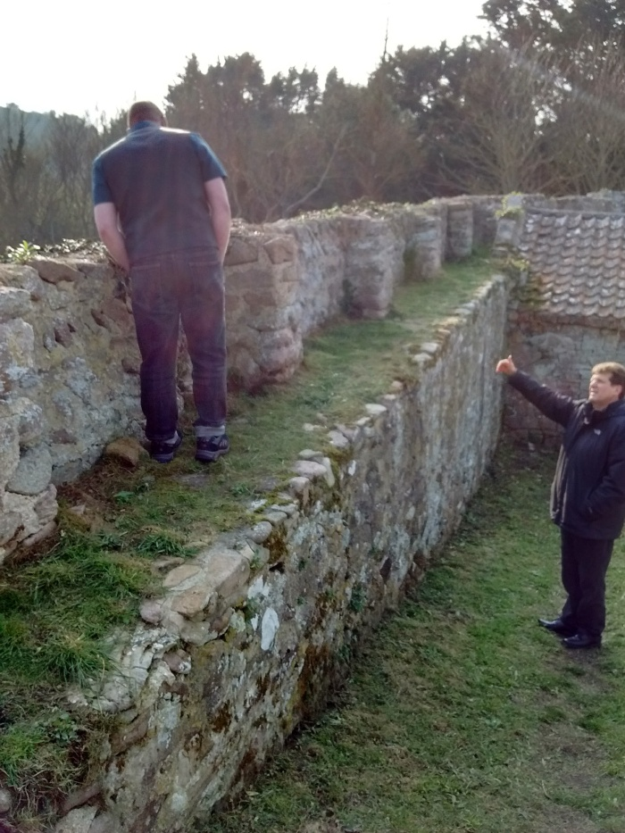 Simon and Jason discussing the Roman wall walk