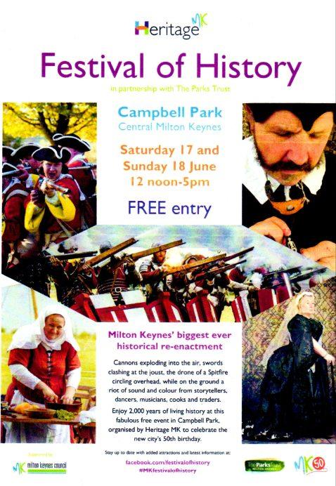 Milton Keynes Festival of History poster