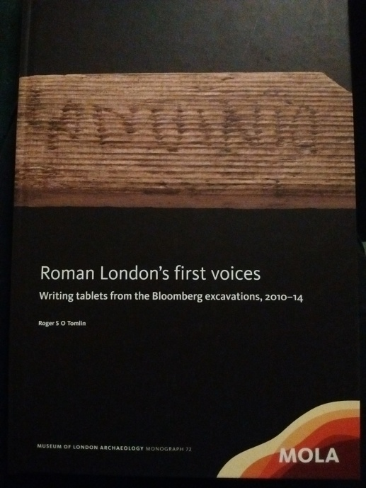 Cover of book about writing tablets from Bloomberg excavations