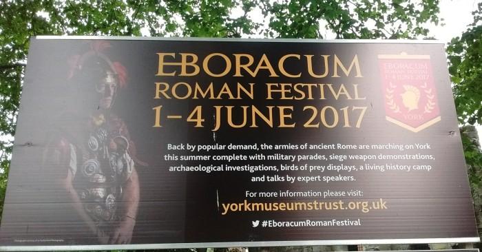 Hoarding advertising Roman Festival
