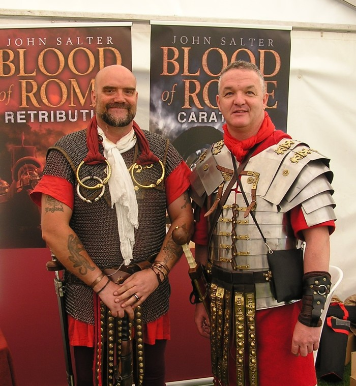 John Salter and Brian Young in Roman military kit