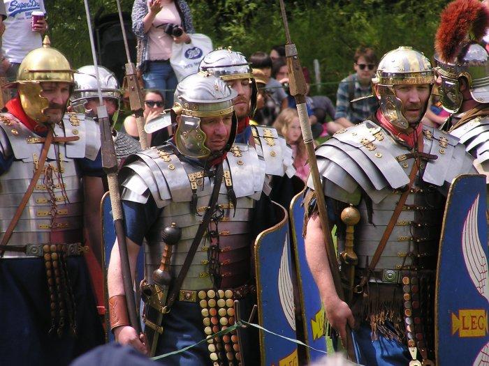 Legionaries in armour