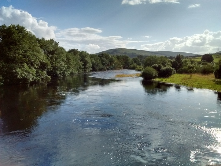 Scottish river in sunshine