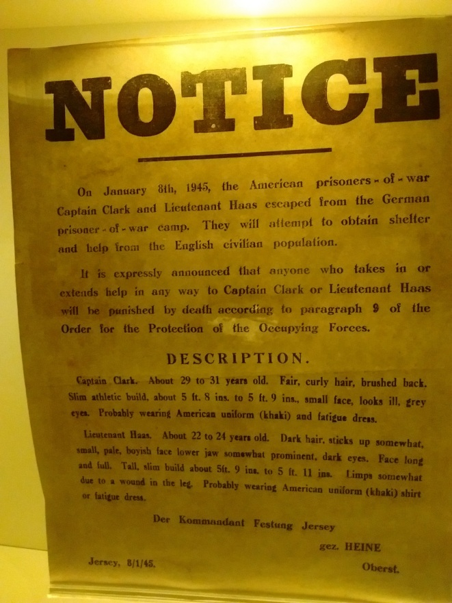 Notice warning residents not to help escaped American POWs