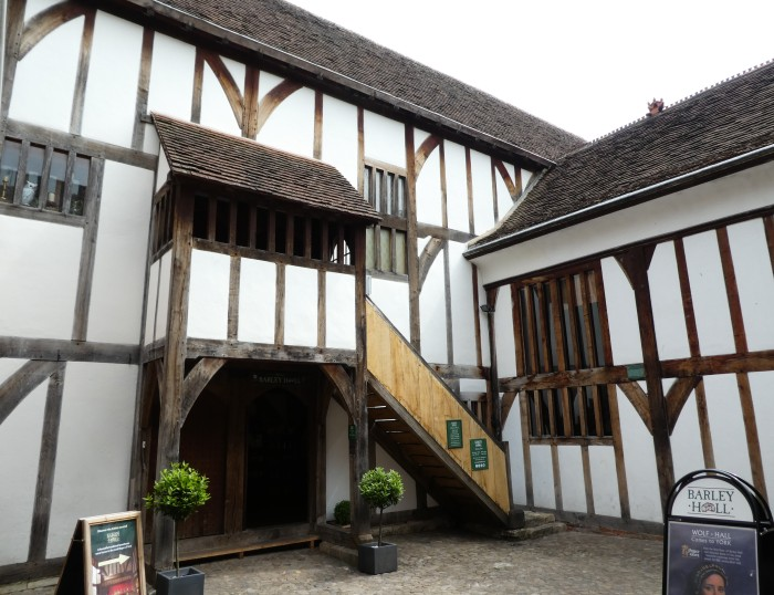 Medieval black and white timbered house
