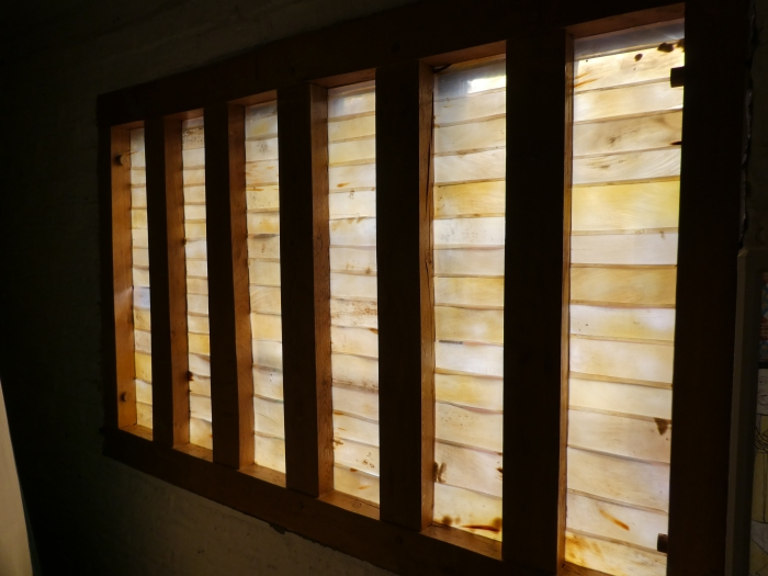 Windows 'glazed' with translucent strips of horn