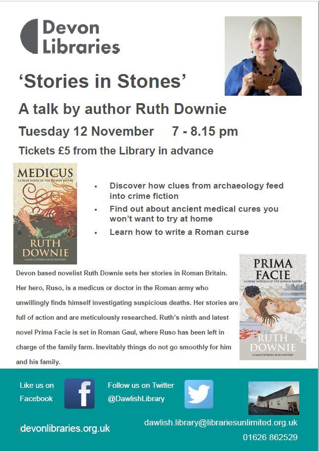 Poster for talk at Dawlish Library