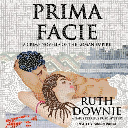 Prima Facie audiobook cover - mosaic of lovers in bath house with bloodstain
